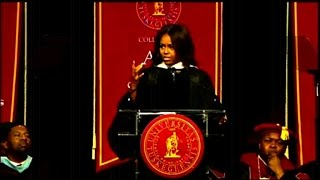 Michelle Obama talks candidly on race in America  (Education)