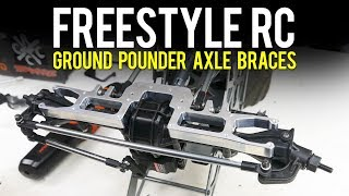 Freestyle RC Ground Pounder Axle Braces Installed