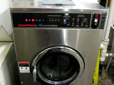 Speed Queen Commercial Washing Machine Wash Cycle Youtube