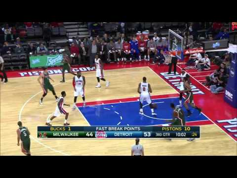 Milwaukee Bucks vs Detroit Pistons | November 7, 2014 | NBA 2014-15 Season
