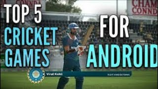 Top 5 Android cricket games 🏏🏏which you like ❤ most
