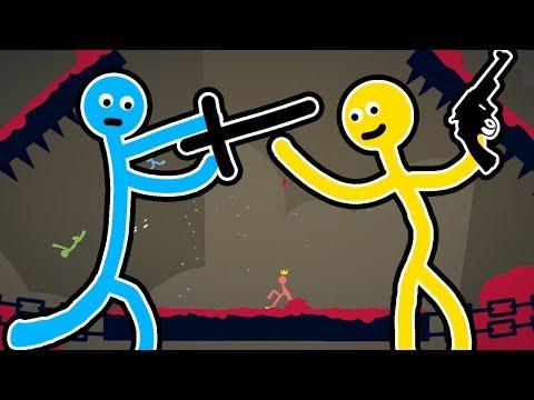 4 ЧЕЛОВЕЧКА УСТРОИЛИ ВОЙНУ! - Stickman Fight