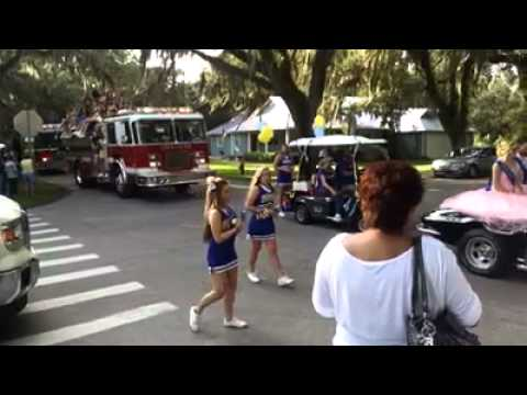 Crystal River High School Homecoming Parade 2014