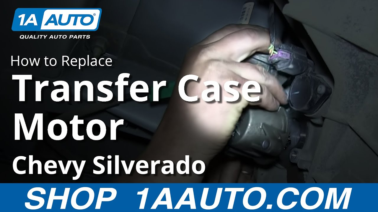 How To Replace Install Transfer Case Shift Motor 2009-13 Chevy Silverado Gmc Sierra