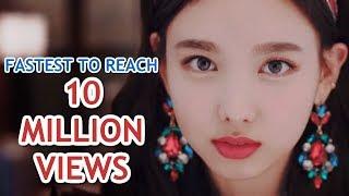 FASTEST K-POP GROUP MV TO REACH 10 MILLION VIEWS