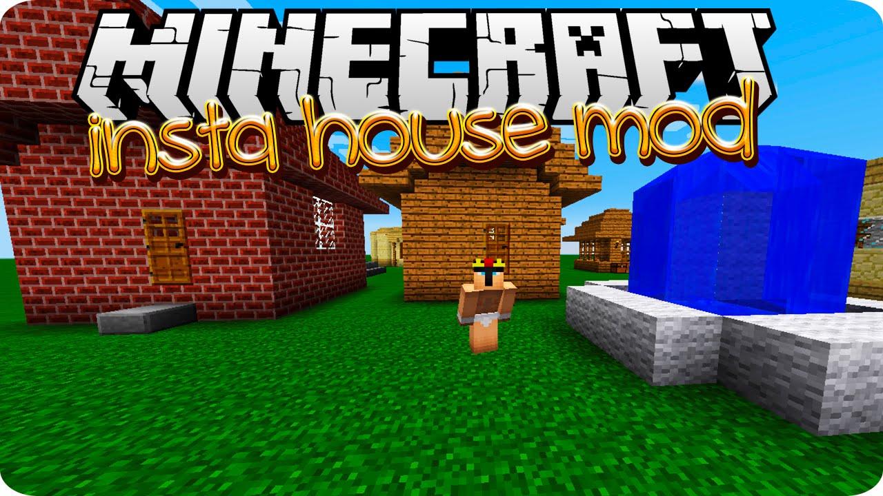 Minecraft House Mod Insta House Mod 1.7.10 Mod