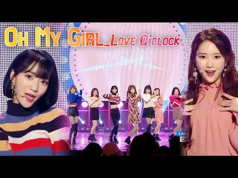 [Comeback Stage] OH MY GIRL - Love O'Clock, 오마이걸 - 러브어클락 Show Music core 20180113