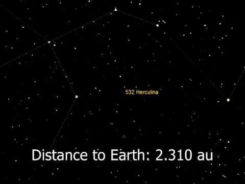 Asteroid (532) Herculina