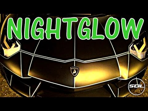 Glow in the Dark Lamborghini Aventador!!