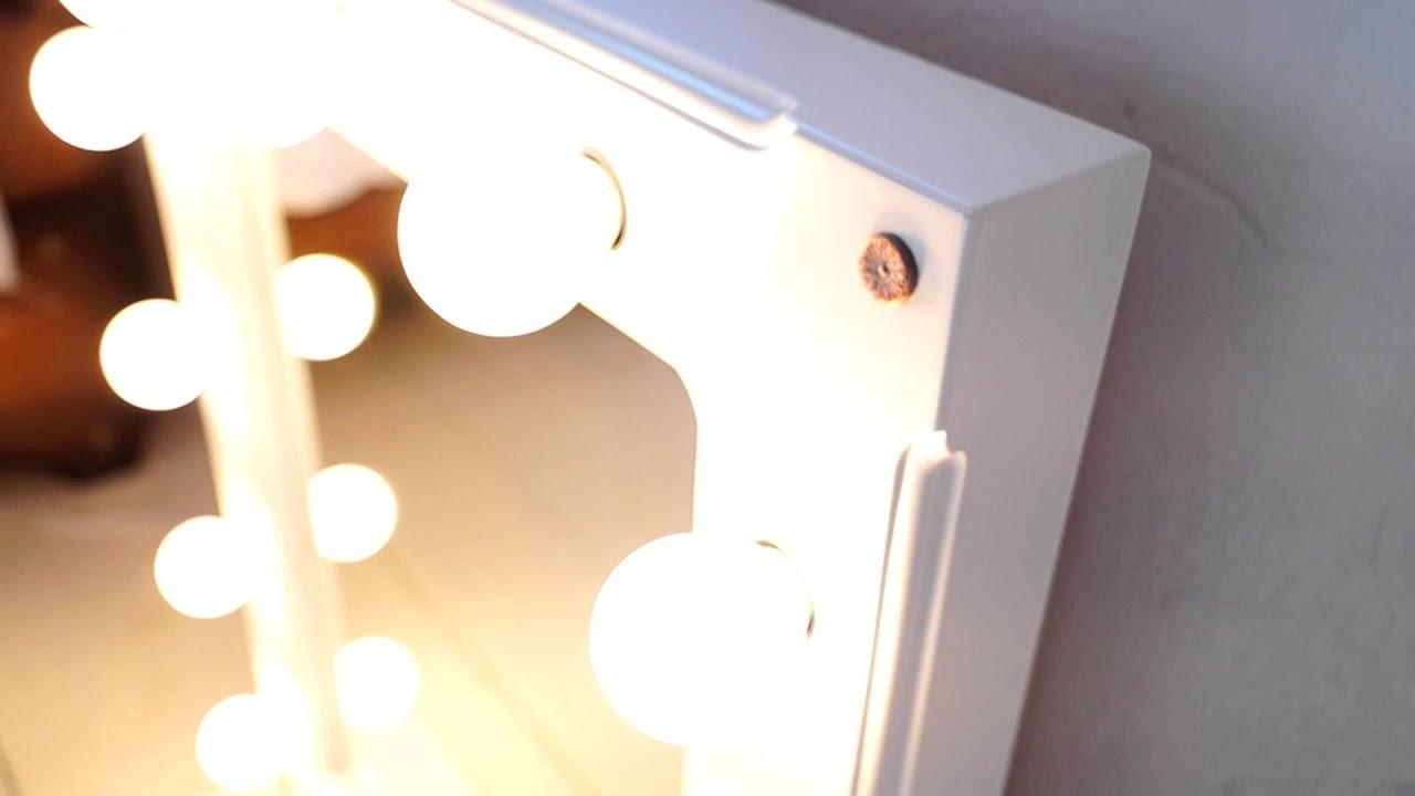 Зеркало с лампочками своими руками 53