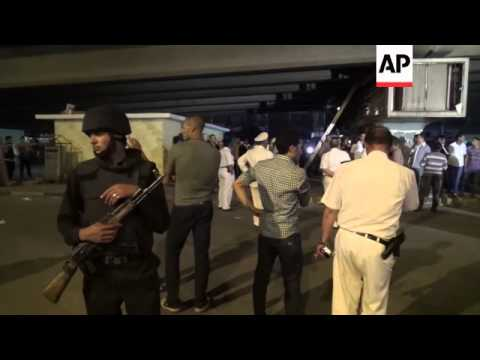 Blast in busy Cairo square kills a police officer