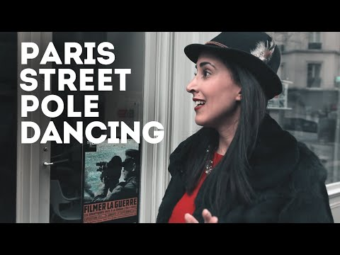 Naked Pole Dancing Chick On Paris Street