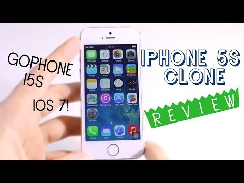 Perfect Iphone 5S clone - Best 1:1 copy - IOS 7 - Goophone i5s Review [HD]