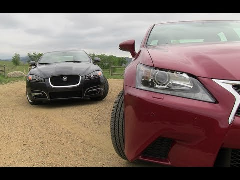 2013 Lexus GS350 vs Jaguar XF Mashup Review: And the best sport luxury sedan is...?