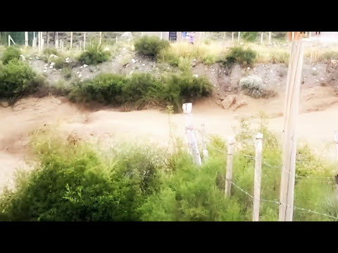 Alud en Piedras Blancas Potrerillos Mendoza (2do video)