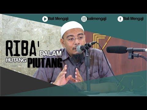Video Singkat: Riba' Dalam Hutang Piutang - Ustadz Dr. Sufyan Fuad Basweidan, MA