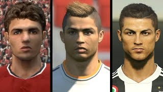 Cristiano Ronaldo evolution from PES 3 to PES 2019