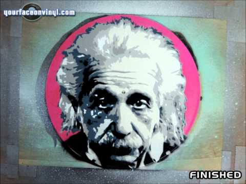 Albert Einstein Stencil Art process