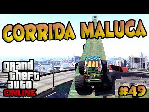 Gta V Online Corrida Maluca #49 - Mega Rampa Com O Monster. video
