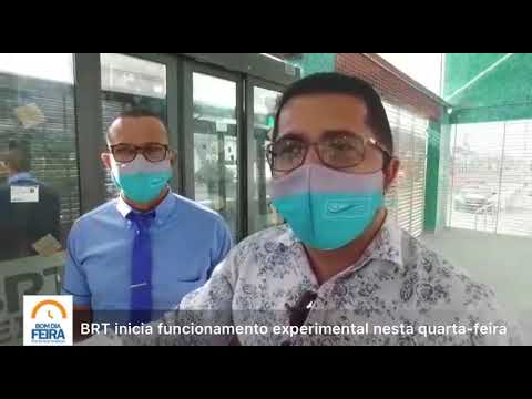 BRT inicia funcionamento experimental nesta quarta-feira