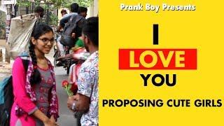 I Love You Proposing To Cute Girls ll Comment Trolling ll Telugu Pranks ll Prankboy Telugu