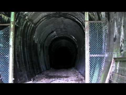近鉄大阪線 旧東青山駅のトンネル