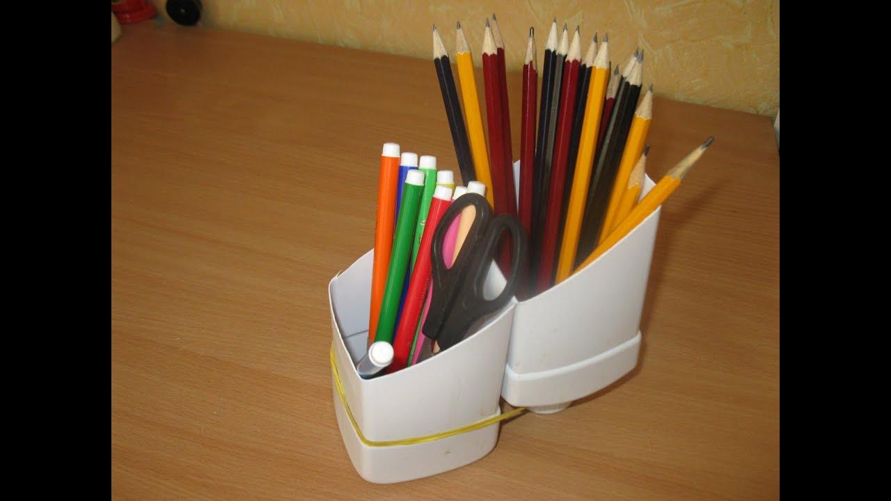 Карандашница из карандашей своими руками из 13