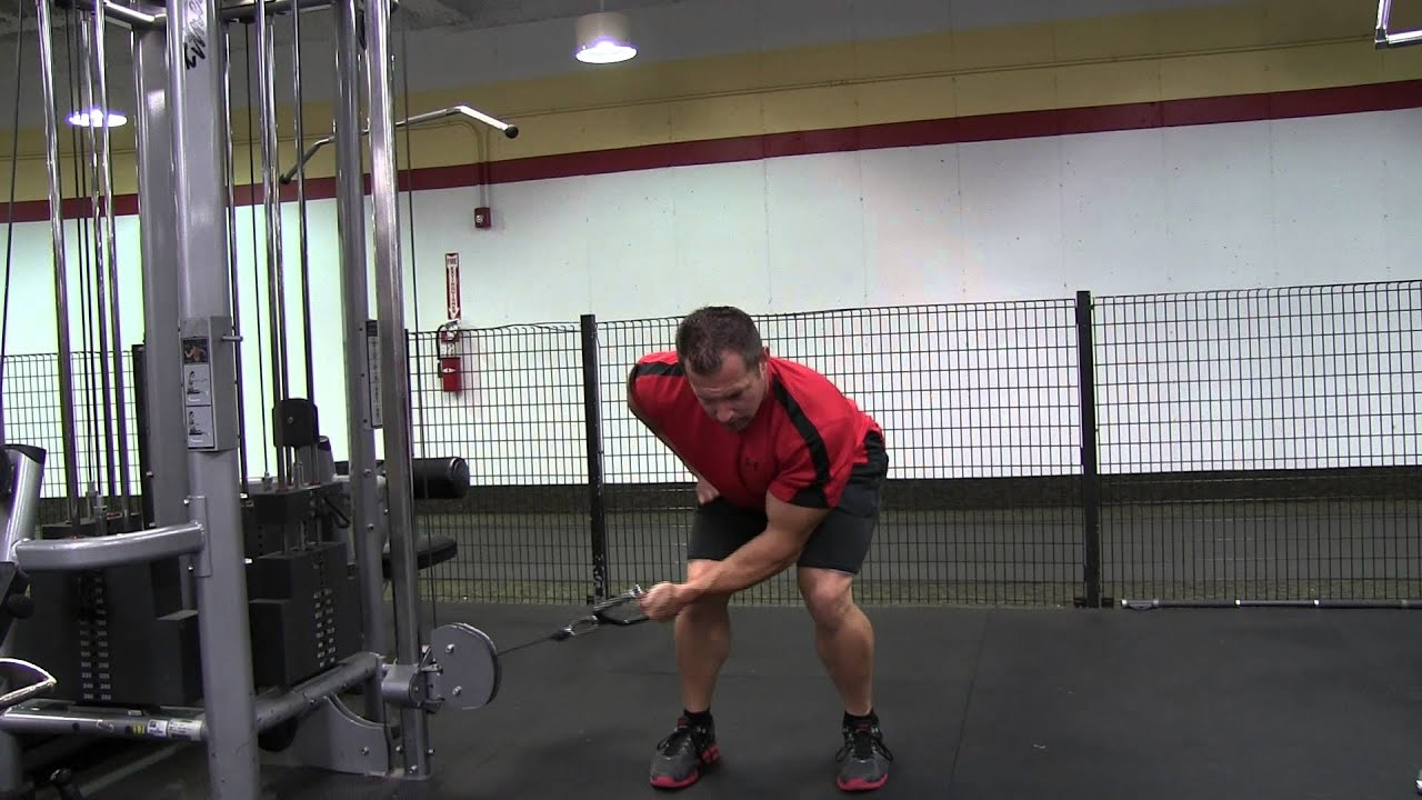 Bent Over Single Arm Cable Rear Delt Fly - YouTube