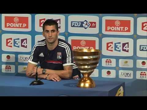 COUPE DE LA LIGUE - Conférence de presse Maxime Gonalons, capitaine de l'OL avant la finale