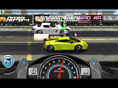 Drag Racing win complete level 6 career with 1 tune setup for Lamborghini Gallardo LP 570 4 SL