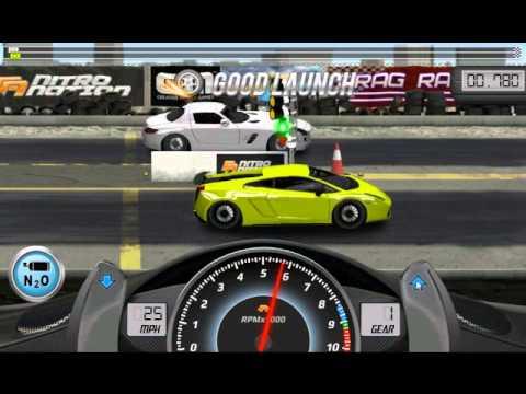 Drag Racing win complete level 6 career with 1 tune setup for Lamborghini Gallardo LP 570 4 SL