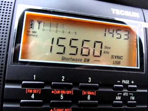 15560 Khz, Radio Sultanate of Oman, english, received on a Tecsun PL 660 in Germany