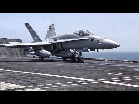U.S. Navy Aircraft Continue Airstrikes On ISIS Terrorists