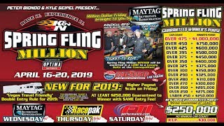 Spring Fling Million Dollar Bracket Race Las Vegas Thursday