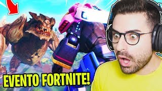 LA MIA REAZIONE ALL'EVENTO ROBOT vs MOSTRO DI FORTNITE! (Evento Completo)