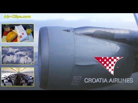 Croatia A319 GREAT CAT III zero visibility takeoff, Zagreb-Paris [AirClips full flight series]
