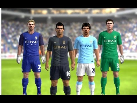 PES 2013 - Manchester City New Kits 2013 - 2014 Home Away ║HD║