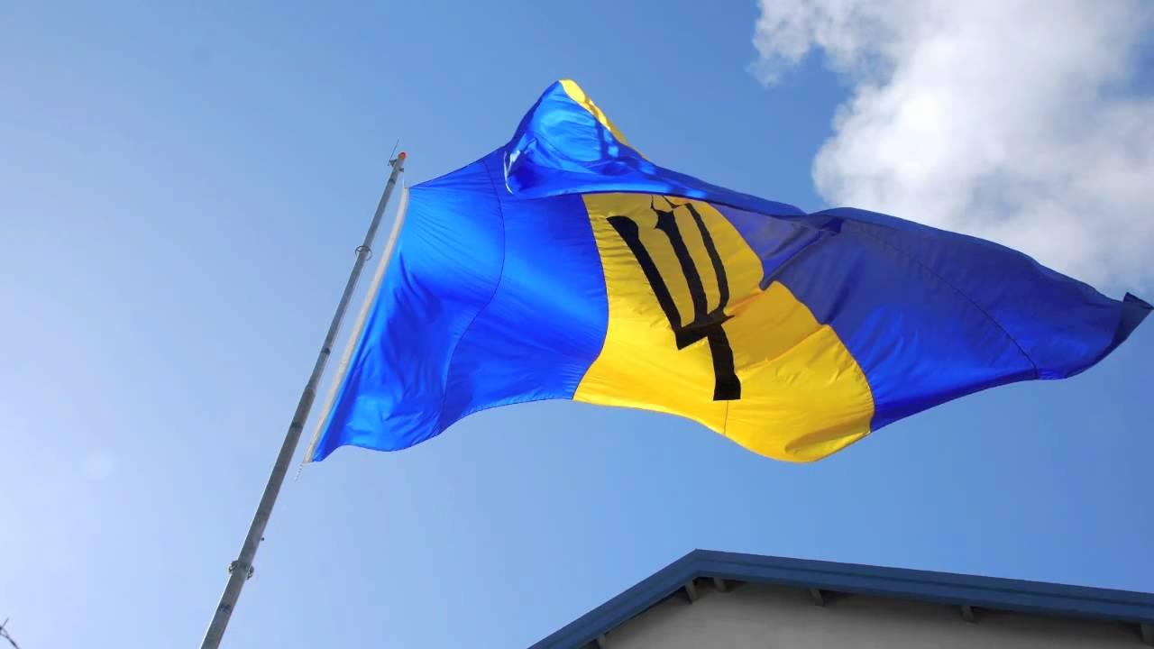Barbados Island Flag