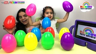Learn Colors with Giant Surprise Eggs for Kids, Children Little Baby Opening Surprise Toys Mega Eggs