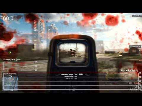 Battlefield 4 Ultra 1440p on Radeon R9 295X2 Frame-Rate Tests