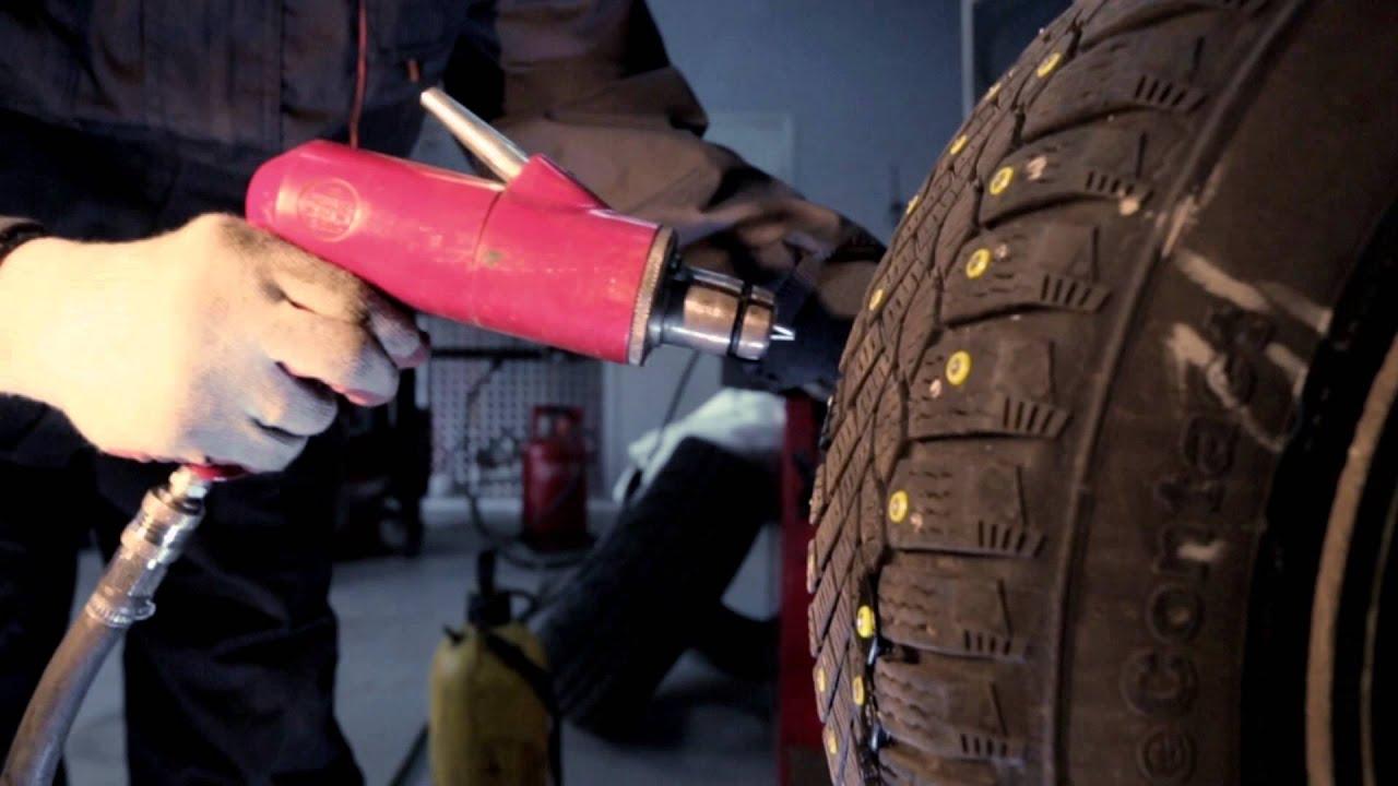 Ошиповка зимних шин своими руками видео фото