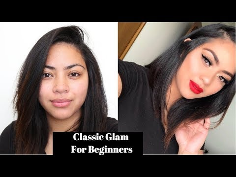 DRUGSTORE CLASSIC GLAM FOR BEGINNERS | STEP BY STEP