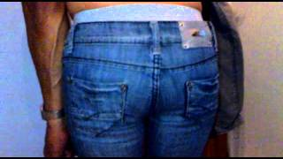 FARTING in girlfriends TIGHT blue jeans!