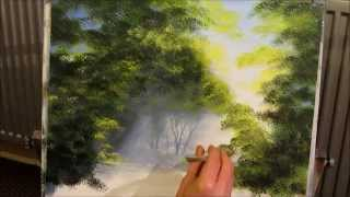 Painting a woodland walk part 4