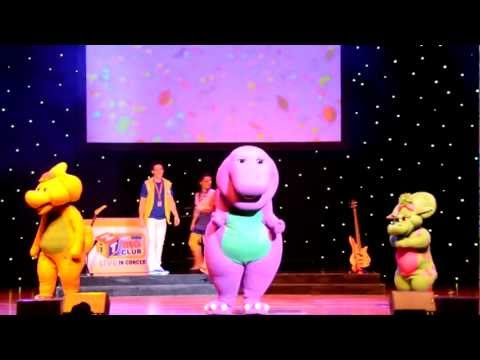 Barney Performing having Fun Song And The Top 5 Songs. video