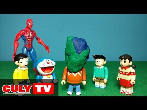đồ chơi Doremon hài - Chaien bắt nạt Nobita và Xeko, người nhện trừng phạt Chaien - Doraemon Toy thumbnail