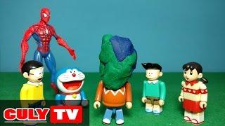 đồ chơi Doremon hài - Chaien bắt nạt Nobita và Xeko, người nhện trừng phạt Chaien - Doraemon Toy