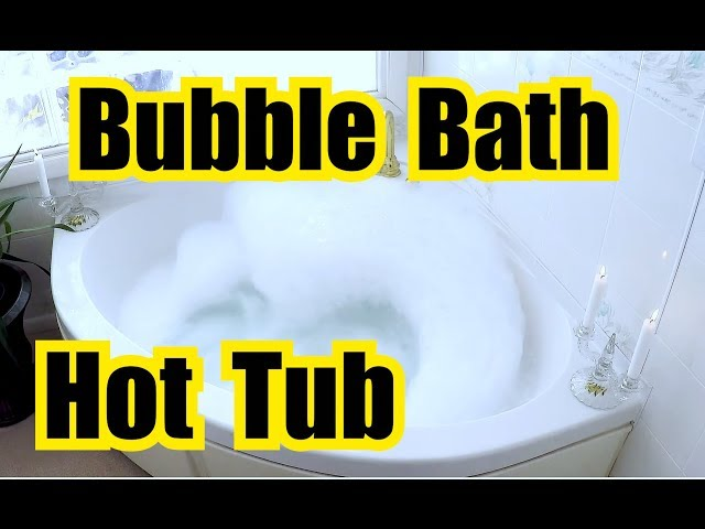 ✬ RELAXING BUBBLE BATH in a SPA TUB for SLEEPING