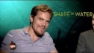 MICHAEL SHANNON SHOWS HIS CUDDLY SIDE DURING 'THE SHAPE OF WATER' INTERVIEW