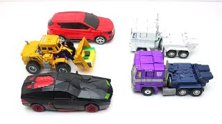 Transformers Hello Carbot robot stop motion LEGO Prison Break Robbery story! & Police Car Toys